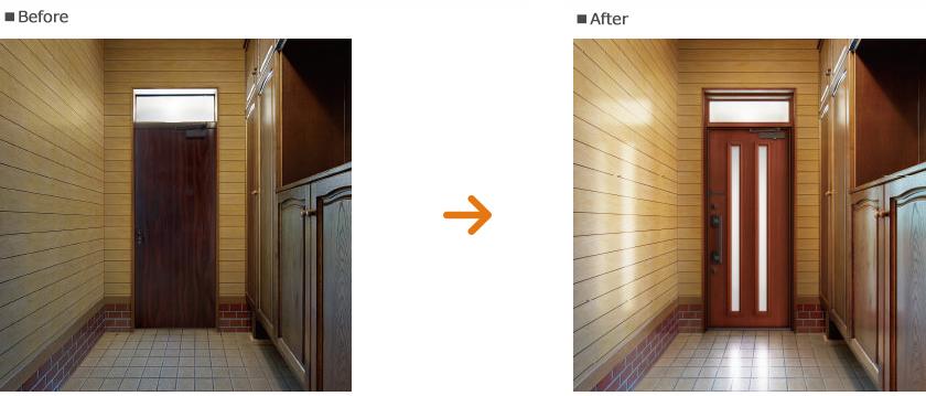 扉の採光比較
